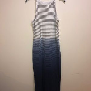 Athleta Size M Women's White Blue Ombré Maxi dress